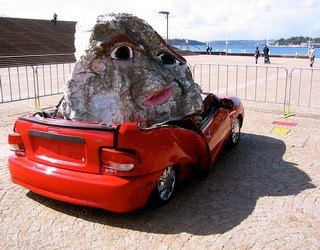 A crunched car