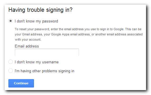 Google login secondary