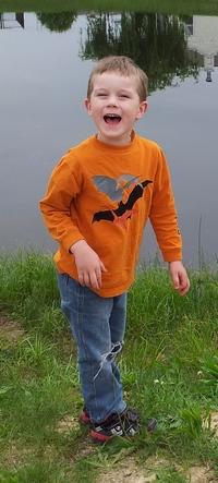 Isaac at pond 1