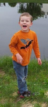 Isaac at pond 2