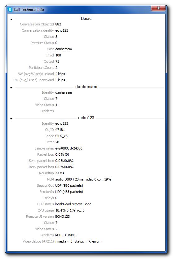 Skype technical info