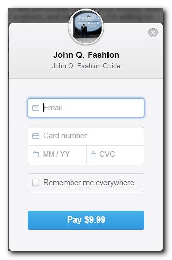 Stripe's checkout screen