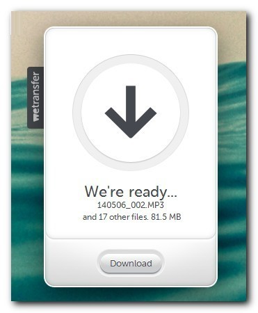 WeTransfer download